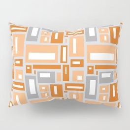 Simple Geometric Pattern in Peach and Gray Pillow Sham