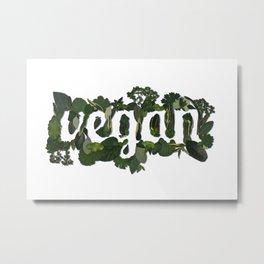 Vegan Metal Print