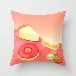 French Vanilla Throw Pillow