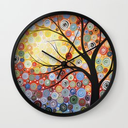 Abstract Art Landscape Original Painting ... Celestial Sunset Wall Clock