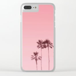 Tranquillity - flamingo pink Clear iPhone Case
