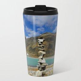 Stones at the blue lake Travel Mug