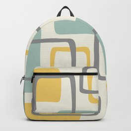 Mid Century Modern Abstract Squares Pattern 453 Backpack