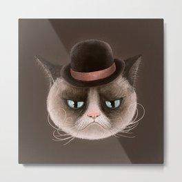 Sad cat Metal Print