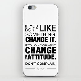 Angelou Attitude iPhone Skin
