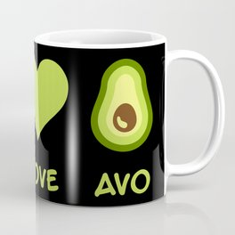 Peace Love Avocado Coffee Mug