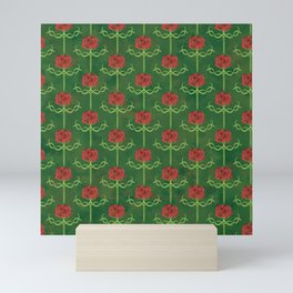 Spring Roses Pattern Mini Art Print