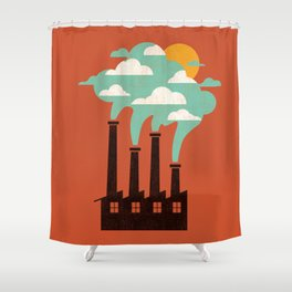 The Cloud Factory Shower Curtain