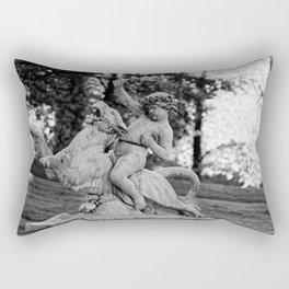 riding a lion Rectangular Pillow