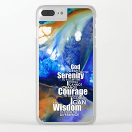 Serenity Prayer 4 - By Sharon Cummings Clear iPhone Case