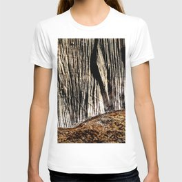 tree bark and wood T-shirt