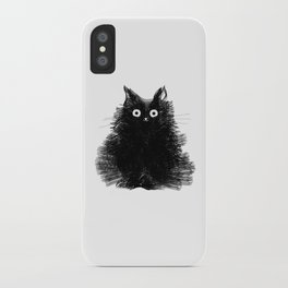 Duster - Black Cat Drawing iPhone Case