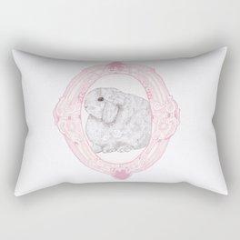 Cameo Bunny Rectangular Pillow