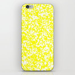 Small Spots - White and Yellow iPhone Skin