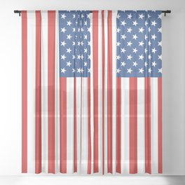 American flag Sheer Curtain