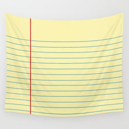 Legal Pad Graphic Wall Tapestry