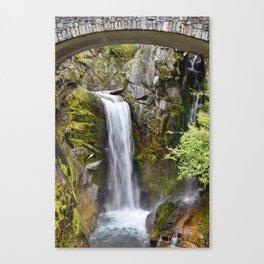 Waterfall at Mt. Rainier, Washington State Canvas Print