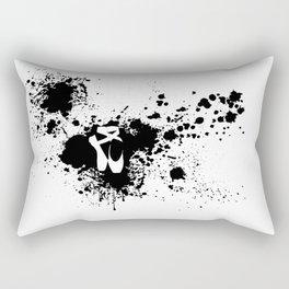 Ballet Slipper Splatter Painting Rectangular Pillow