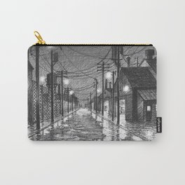 Raining on industrial street Carry-All Pouch