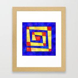 Semirenium - simple coloured cube world Framed Art Print