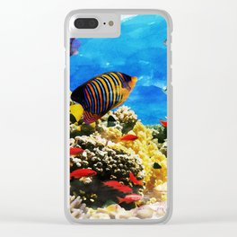 Beautiful Coral Reef / Watercolor Art Clear iPhone Case