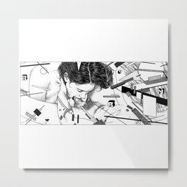 asc 795 - Les espaces de Lazar (Tattoo deconstruction) Metal Print