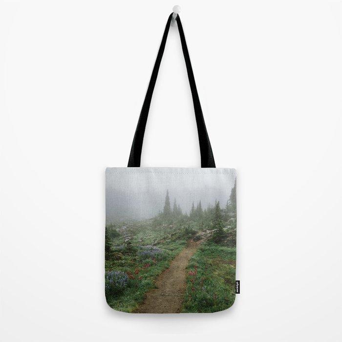 Washington Wildflower Fog Tote Bag