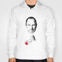 steve jobs Hoodies featuring Steve Jobs by lovetoclick