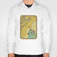 robot Hoodies featuring Robot by Willow Dawson