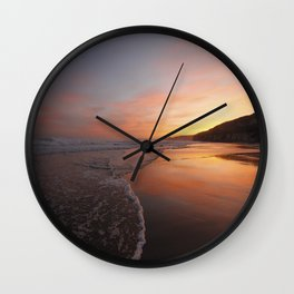 Last light at Dusk Wall Clock
