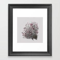HEDGEHOG (grey) Framed Art Print