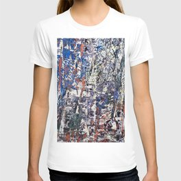 Inclement Weather (Gray and Blue Abstract Marks) T-shirt