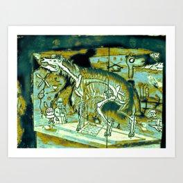 Interior Skeleton Art Print