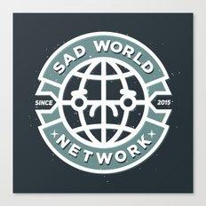 SAD WORLD NEWS NETWORK Canvas Print