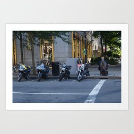 Wheels in the City Art Print