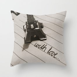 from paris... Throw Pillow