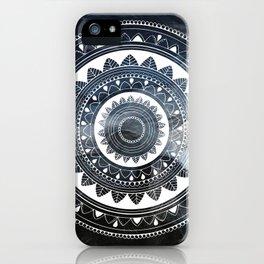 Ukatasana white mandala on sky iPhone Case