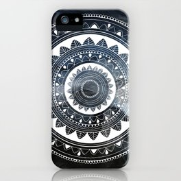 Ukatasana white mandala on sky iPhone Case