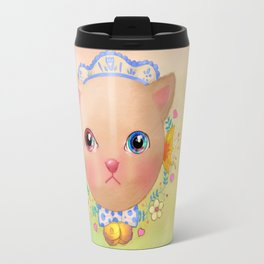 Cat you put the universe in the eyes Travel Mug