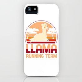 Llama running team - Llama, alpaca iPhone Case