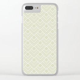Summer in Paris - Classic Soft Green Geometric Minimalism Clear iPhone Case
