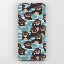 Otters dazzling the audience iPhone Skin
