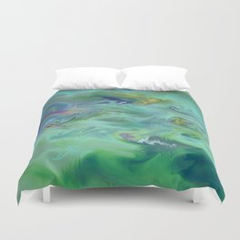Wall Art- Abstract- Kitchen Art- AirBnB- Modern Art- Green- Interior Design Duvet Cover