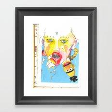 Time and incest  Framed Art Print