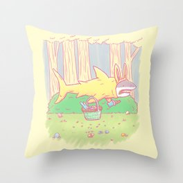 The Easter Bunny Shark Throw Pillow