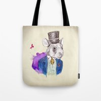 hamster Tote Bags featuring hamster by Amit Shimoni