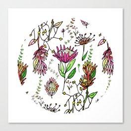 Protea Flower Pink #homedecor Canvas Print