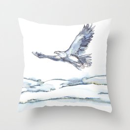 Flying Eagle, Hudson Valley (center) Throw Pillow