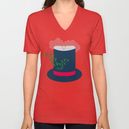 Bordeaux Unisex V-Neck