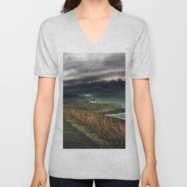 Storm on the Coast Unisex V-Neck
